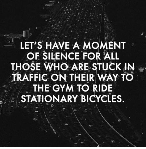 ...um dort auf dem Cardiogerät Fahrrad zu fahren.